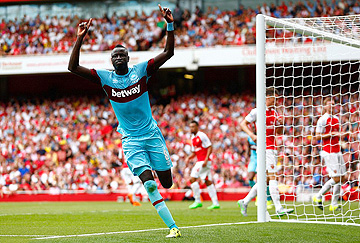 kouyate scores at arsenal